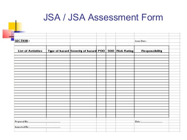 Job safety analysis form template