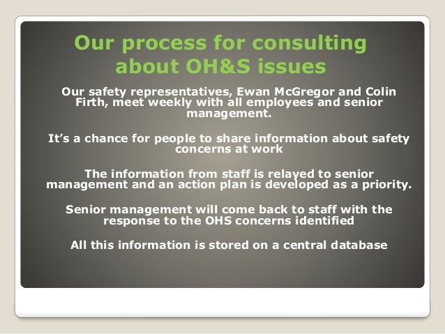 Ohs issues in business plan