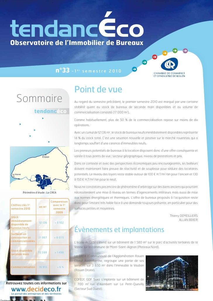 Observatoire de l'Immobilier de Bureaux                                                      n°33 - 1                    e...