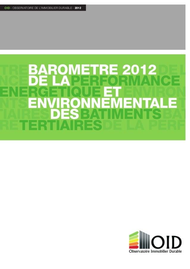 OID - ObservatOire de l'immObilier durable - 2012