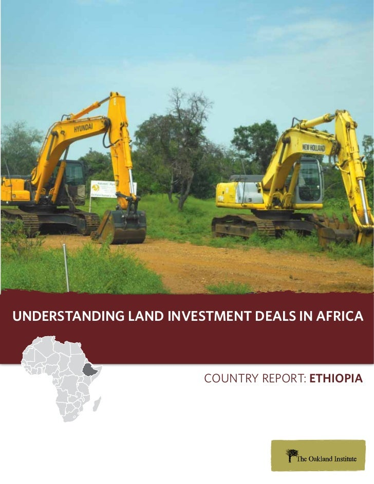 Understanding Land investment deaLs in africa                        Country report: ethiopia