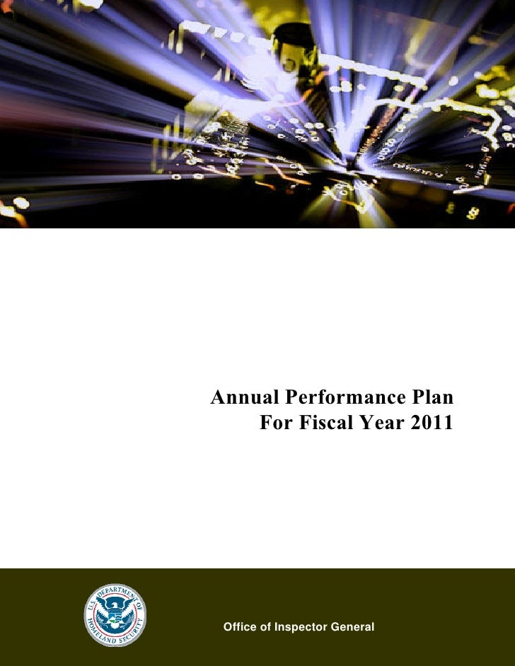Fiscal Year 2011                           Annual Performance Plan     Annual Performance Plan       For Fiscal Year 2011 ...