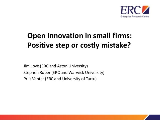 Openness and innovation performance: are small firms different? (slides, pdf file)