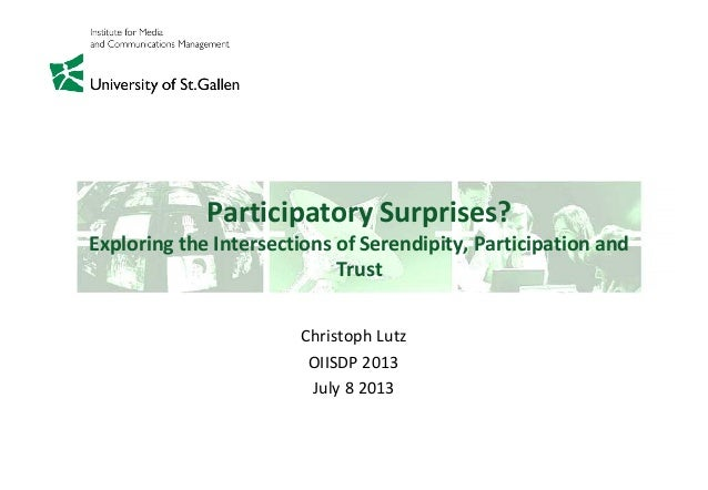 Participatory Surprises - Exploring the Intersections of Serendipity, Participation and Trust