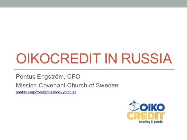 Oikocredit in Russia