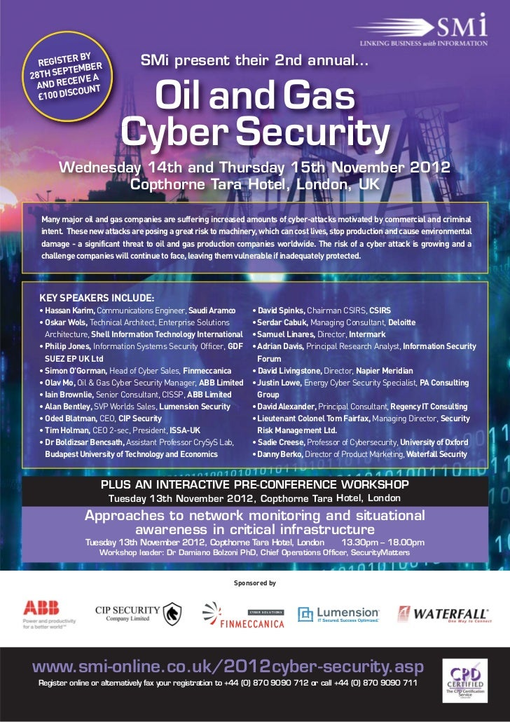 Oil and gas cyber security nov 2012
