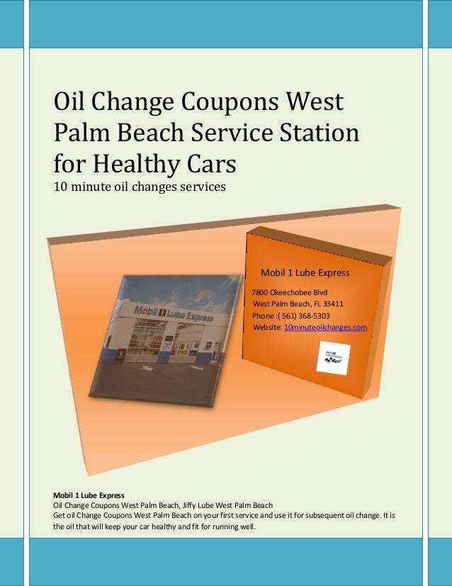 Oil Change Coupons West Palm Beach