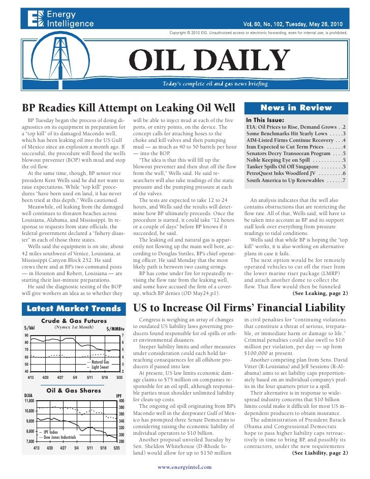 """Oil Daily features GBI\'s """"South and Central America Oil Market, Forecasts and Trends to 2015"""""""