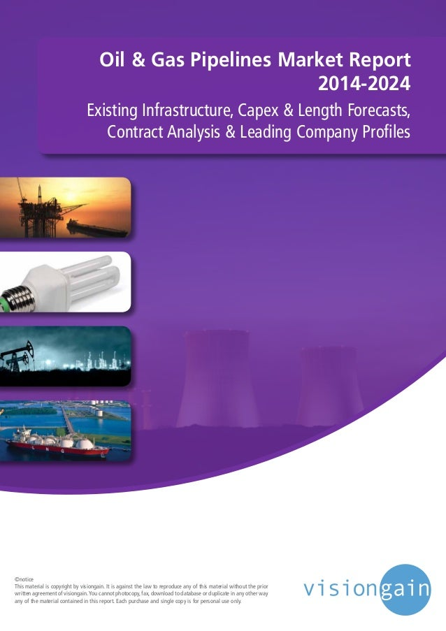Oil & Gas Pipelines Market Report 2014-2024 Existing Infrastructure, Capex & Length Forecasts, Contract Analysis & Leading...