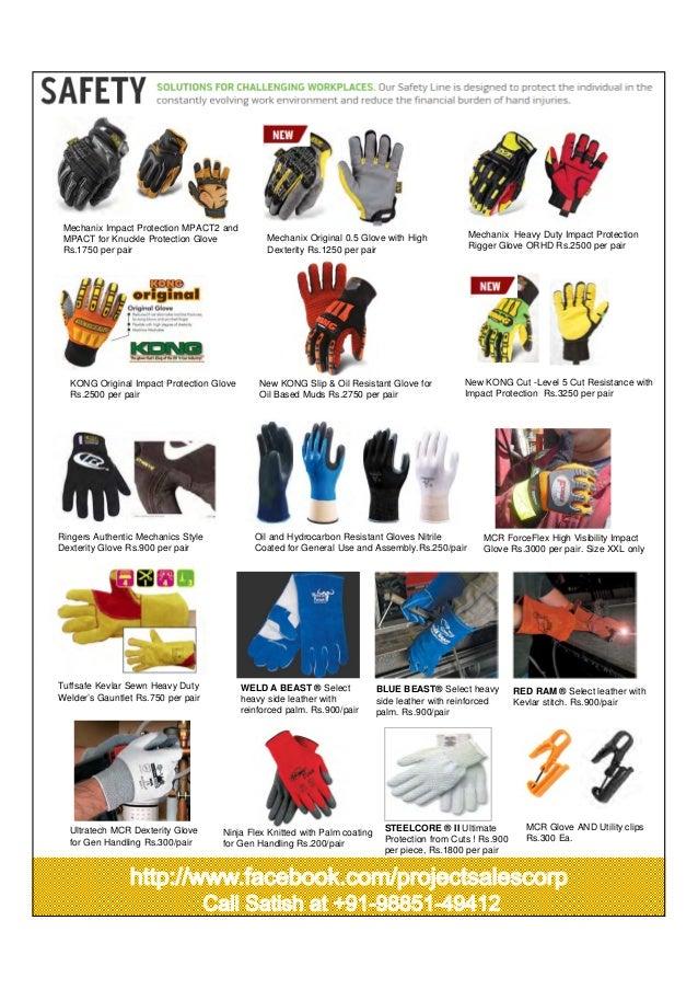 Oil & gas safety gloves 2014