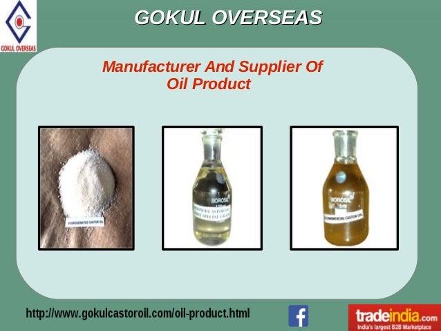 Oil Product Exporter, Manufacturer, Gokul Overseas