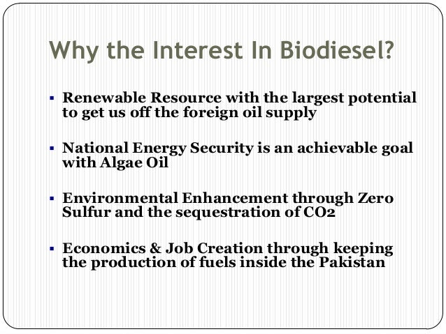 biofuel potential in pakistan We also identify and evaluate potential technologies to produce second- and third-generation biofuels, which we refer to as advanced biofuels chevron believes that advanced biofuels could help meet the world's future energy needs if they are scalable, sustainable and affordable for consumers.