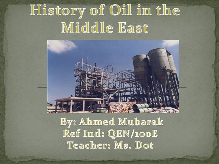 Oil production in middle east