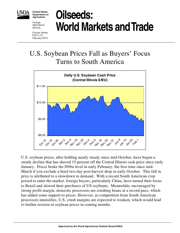 Oil Seeds World Markets And Trade