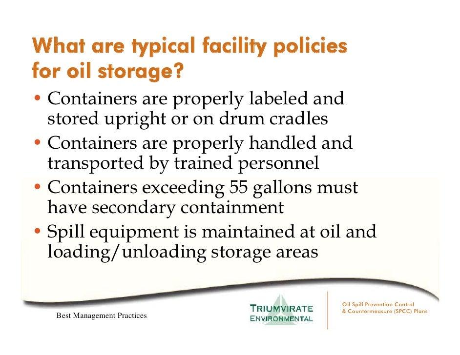 Triumvirate Environmental Oil Spcc Planning