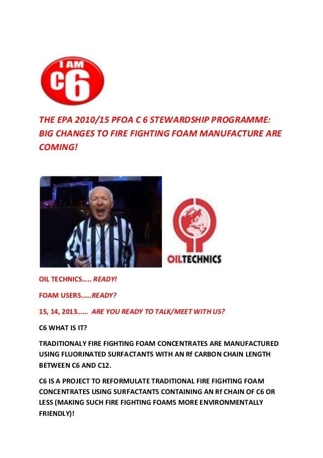Oil Technics  Ltd C6 Fire Fighting Foam