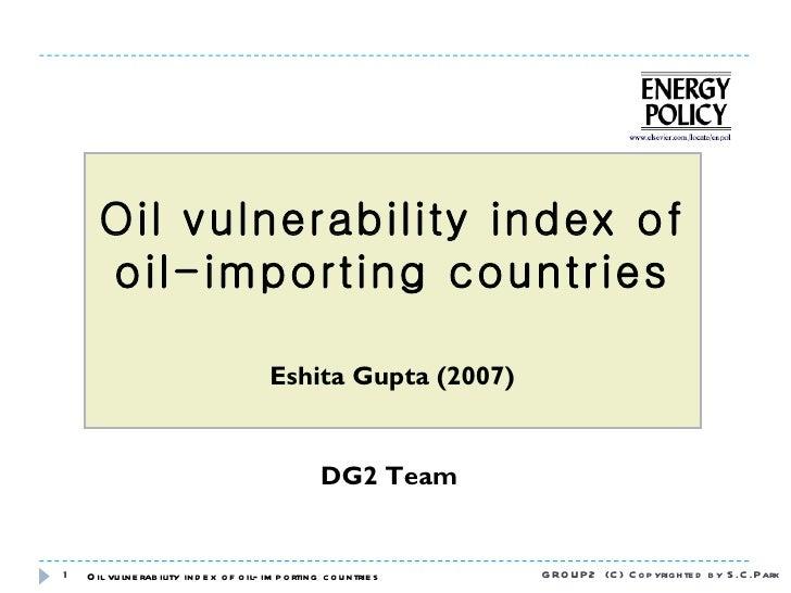 Oil vulnerability index dg2 20110917