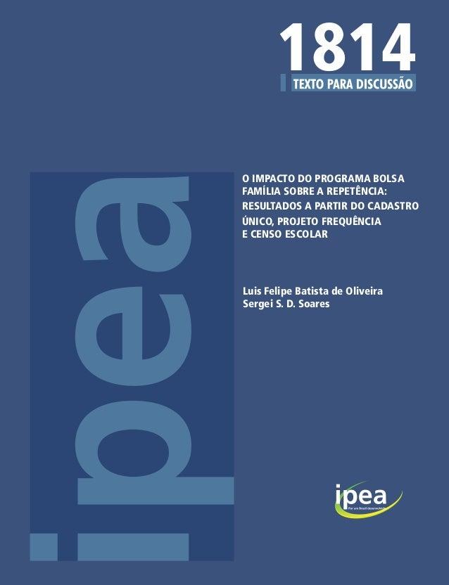 Missão do IpeaProduzir, articular e disseminar conhecimento paraaperfeiçoar as políticas públicas e contribuir para oplane...