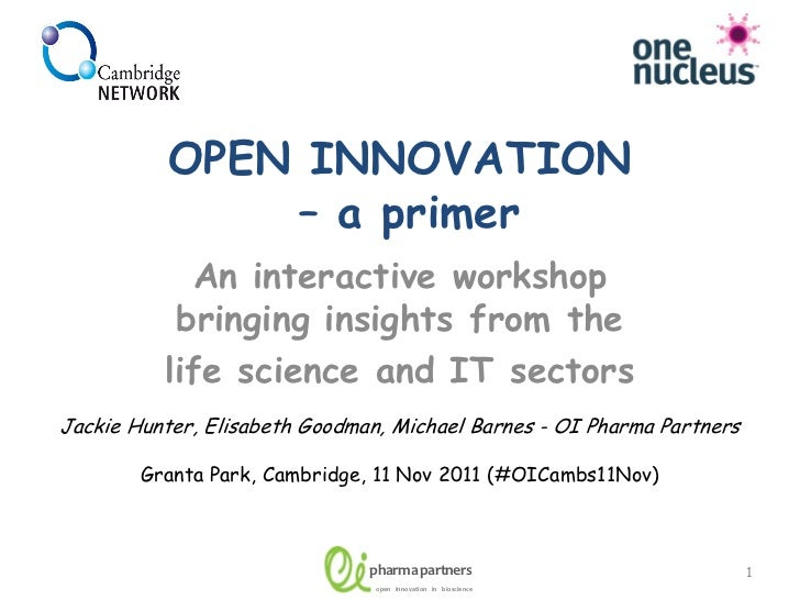 OPEN INNOVATION               – a primer            An interactive workshop           bringing insights from the          ...