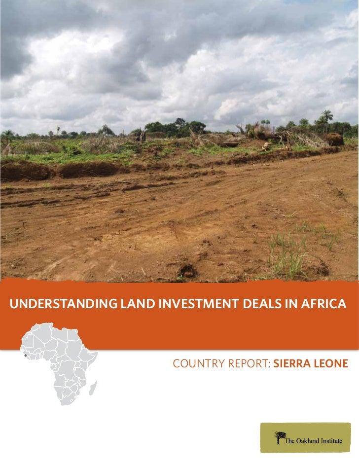 Understanding Land Investment Deals in Africa