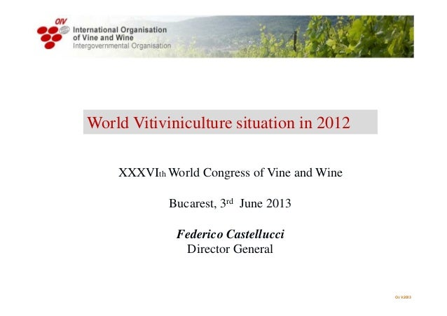 World Vitiviniculture situation in 2012 O.I.V.2013XXXVIth World Congress of Vine and WineBucarest, 3rd June 2013Federico ...