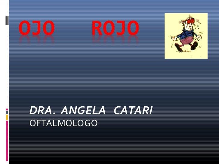 DRA. ANGELA CATARIOFTALMOLOGO