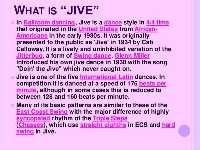 how to jive dance steps