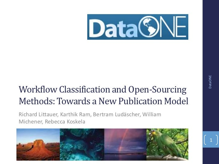 Workflow Classification and Open-Sourcing Methods: Towards a New Publication Model
