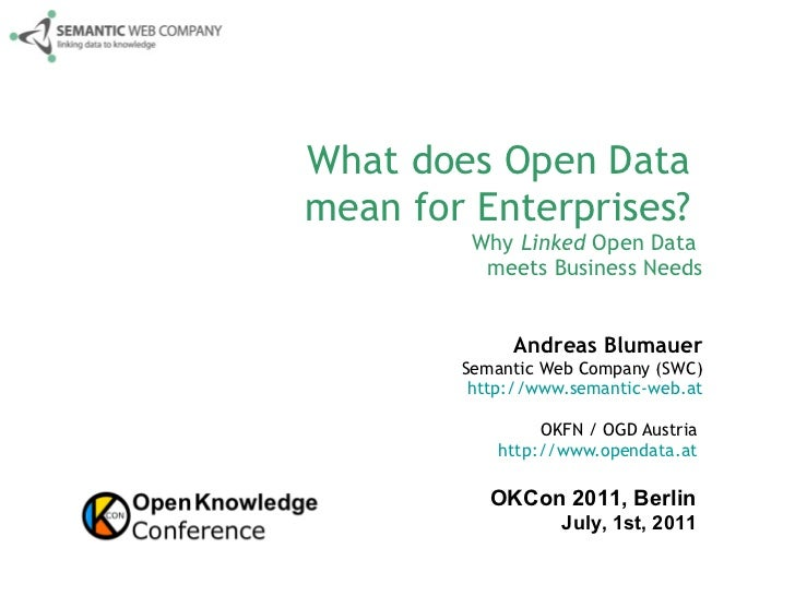 open data for enterprises