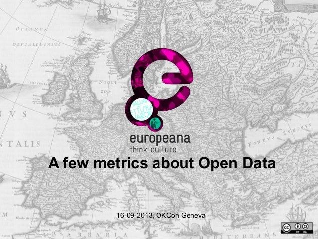 A few metrics about Open Data  16-09-2013, OKCon Geneva
