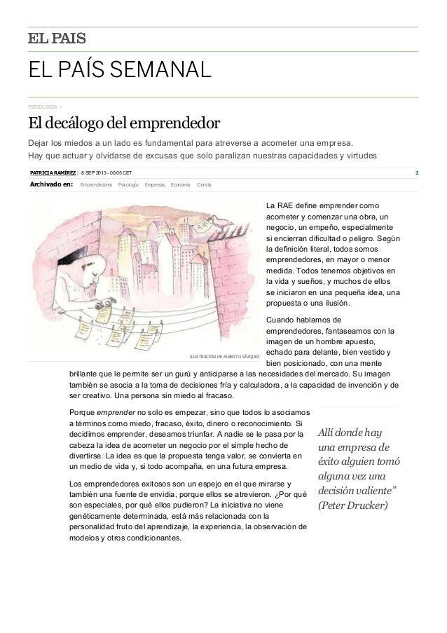 El decálogo del emprendedor por Patricia Rodriguez