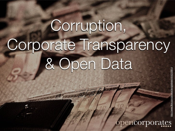 Corruption, corporate transparency and open data