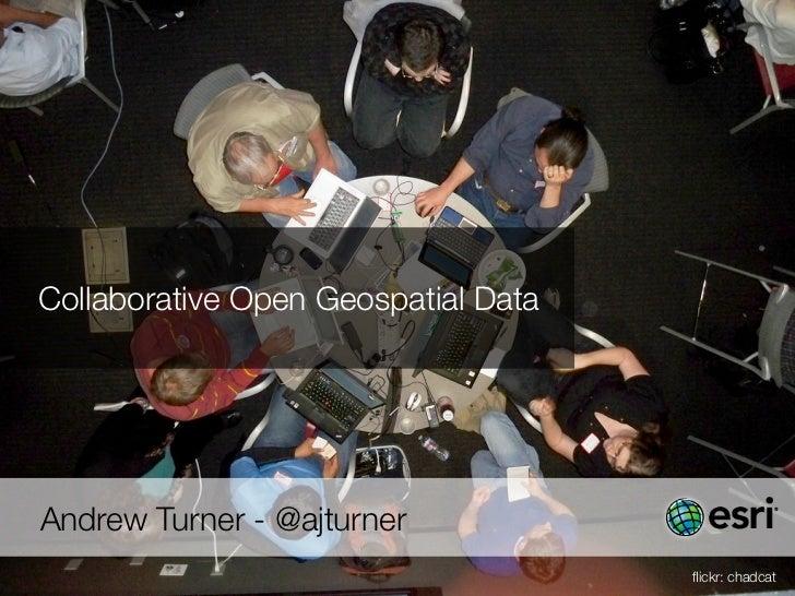 OK festival Lightning Talk - Collaborative Open Geospatial Data