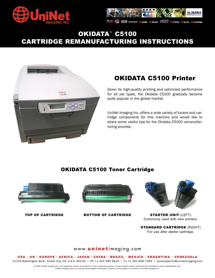 OKIDATA™ C5100       CARTRIDGE REMANUFACTURING INSTRUCTIONS                                                               ...