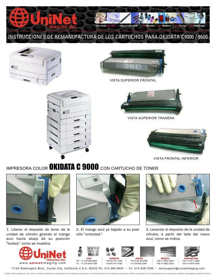 Manual de Recarga Okidata 9000 Espanhol
