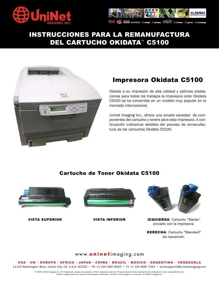 Manual de Recarga Okidata C5100 Espanhol