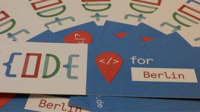 OK Lab Berlin +40 Teilnehmer ca. 2.000 Stunden ehrenamtlich programmiert