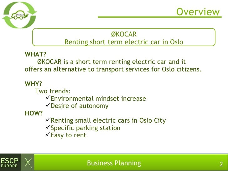 Rental car business plan