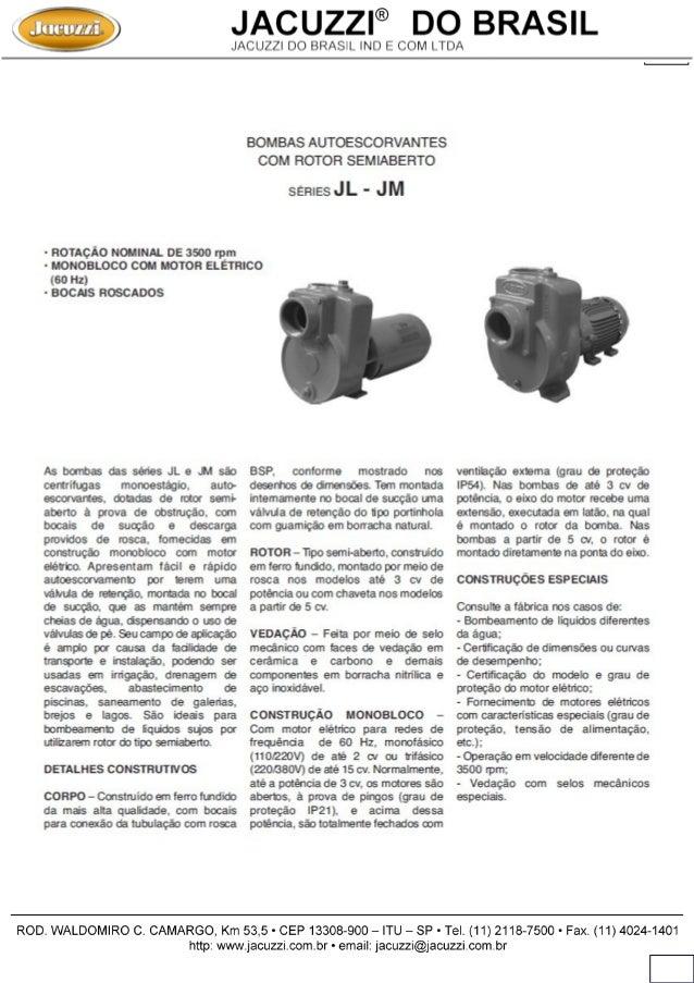 Bomba Jacuzzi Série JL-JM