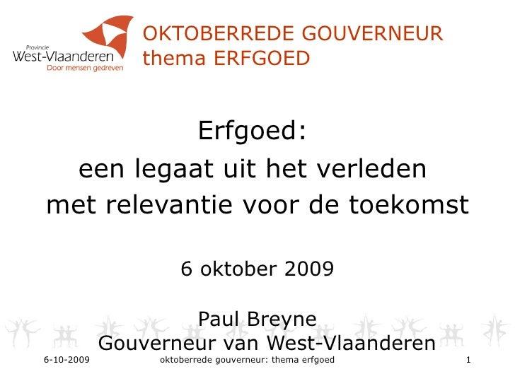 Oktoberrede gouverneur Paul Breyne