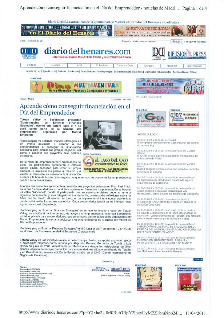 Okuri Ventures & Tetuan Valley - Menciones en medios Abr2011 parte B