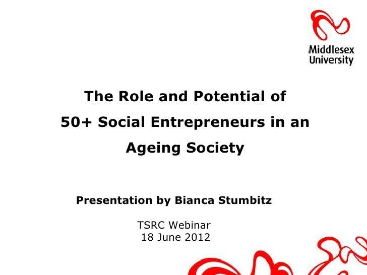 Older Social Enterpreneurs