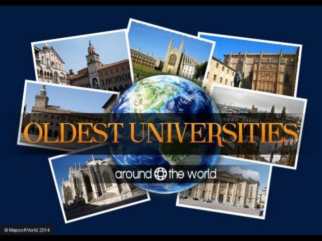 Oldest Universities Around The World