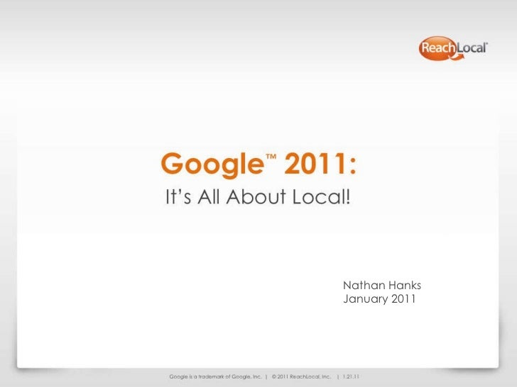 Google 2011: Impacts on Local Internet Marketing