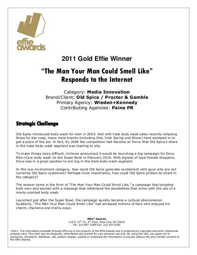 Case Study: Old Spice for Effie Awards
