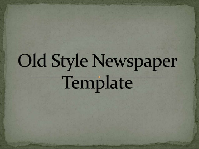 Newspaper style