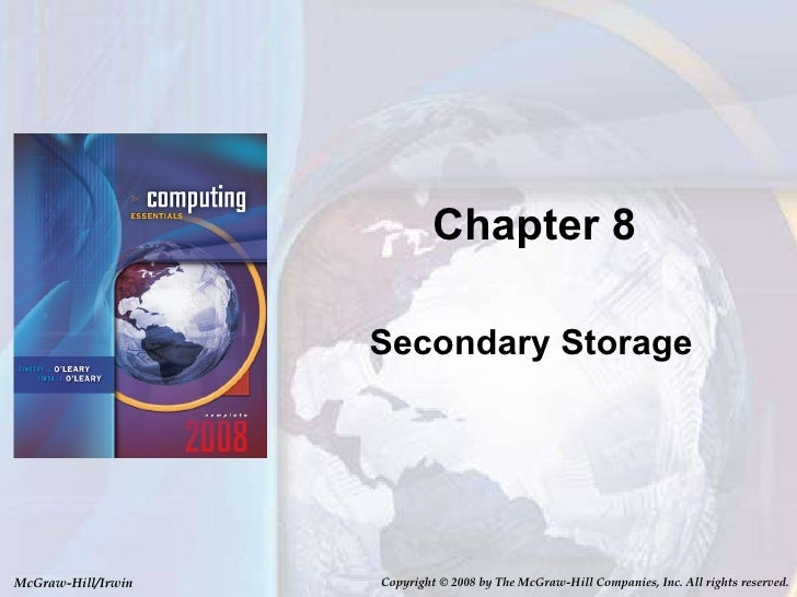 Chapter 8 Secondary Storage