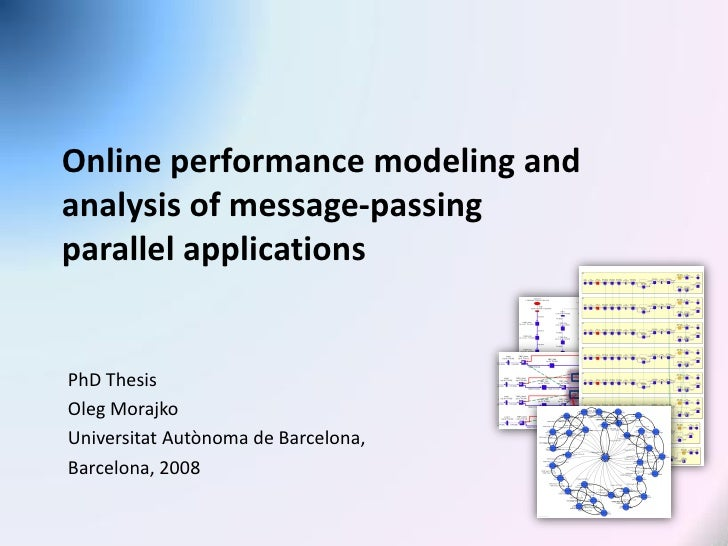 Online performance modeling and analysis of message-passing parallel applications