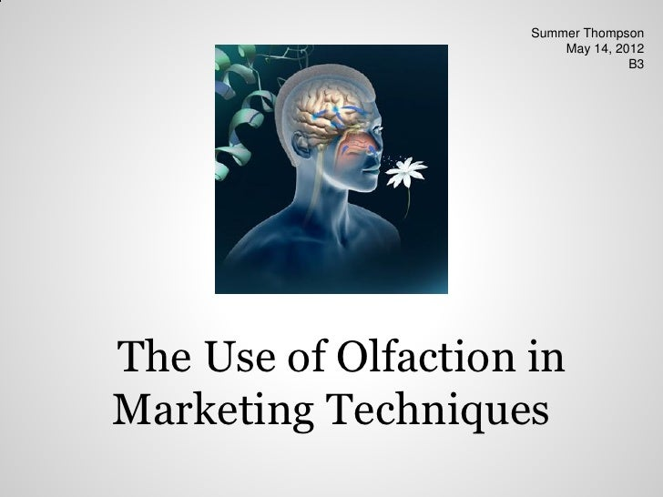 Summer Thompson                         May 14, 2012                                   B3The Use of Olfaction inMarketing ...