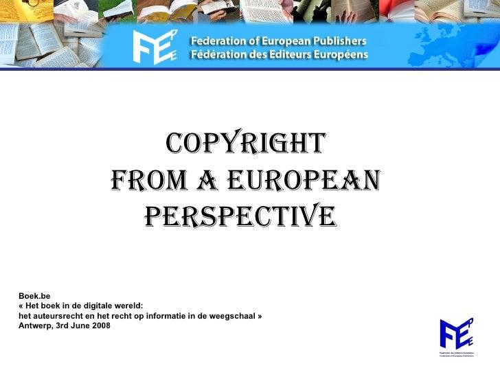 Olga Martin Sanchez Fep Presentation Vuv Seminar Copyright Eu Perspective June 2008